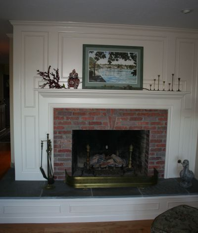 Dramatic Fireplace Makeover