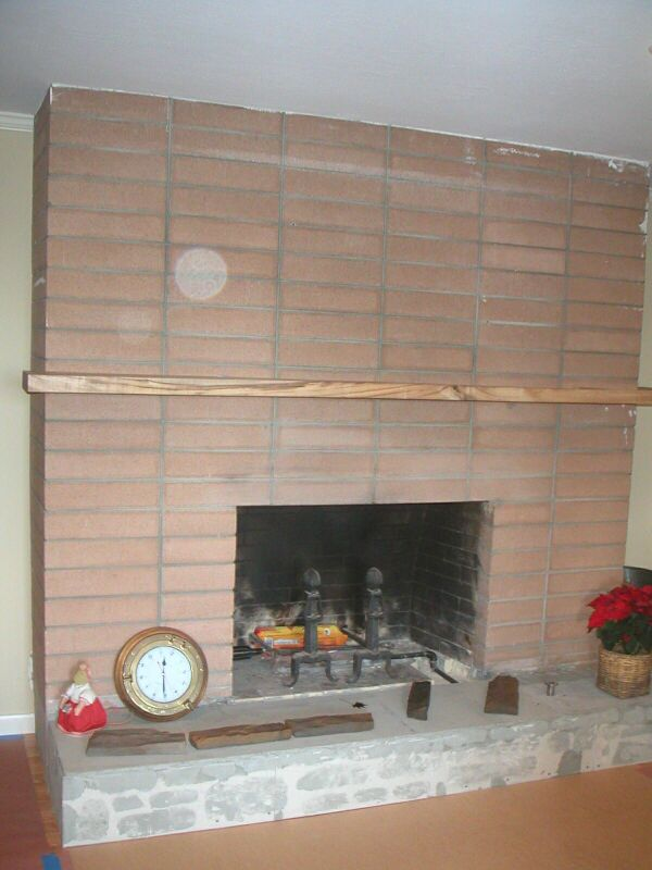 Fireplace Remodeling - Before, Brick