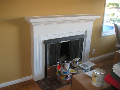 Mantel Designed to Change Fireplace Proportions