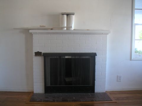 Out of Proportion Brick Fireplace