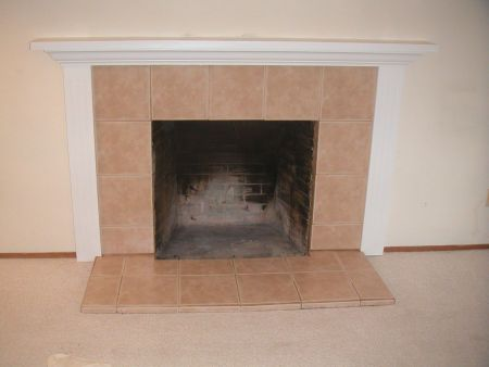 Fireplace Refaced with Tile