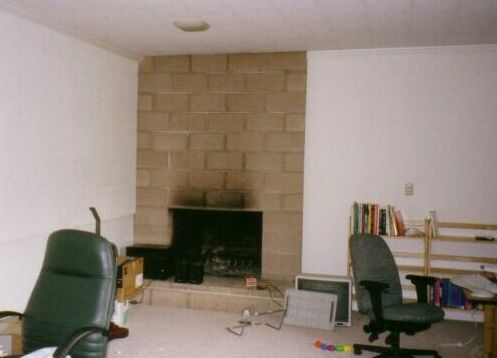 Fireplace Remodeling - Before, Cinder Block