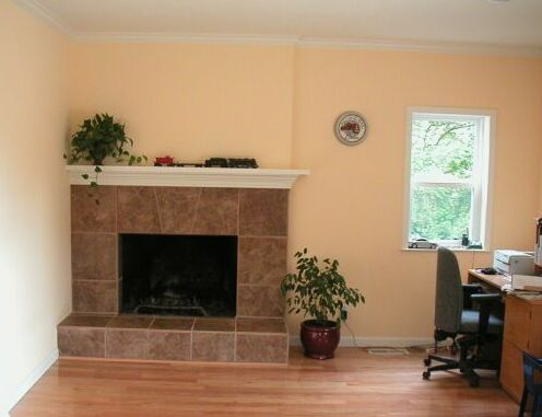 Fireplace Remodel with Italian Tile