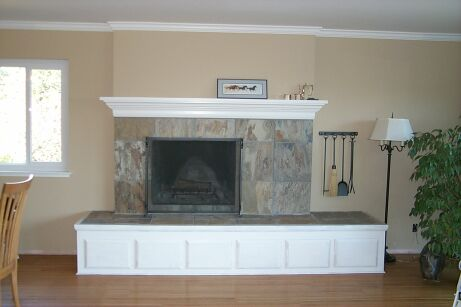 Fireplace Remodel with Slate Tiles
