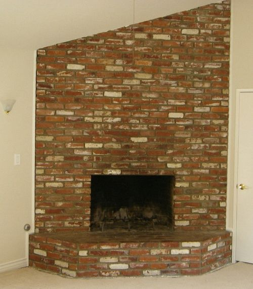 Brick Fireplace Before Remodel